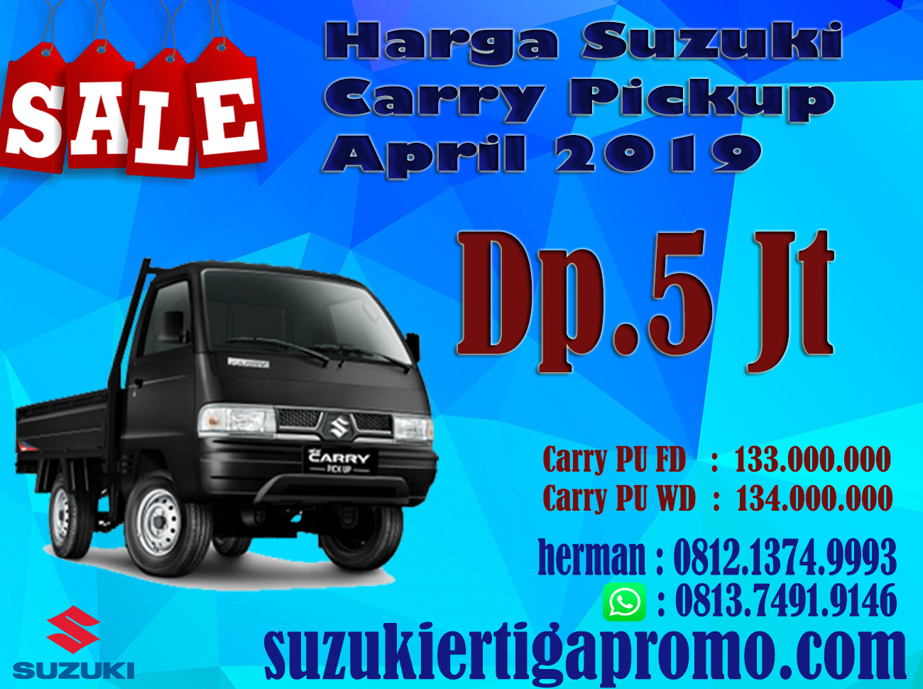 HARGA SUZUKI CARRY PICKUP TERBARU APRIL DP