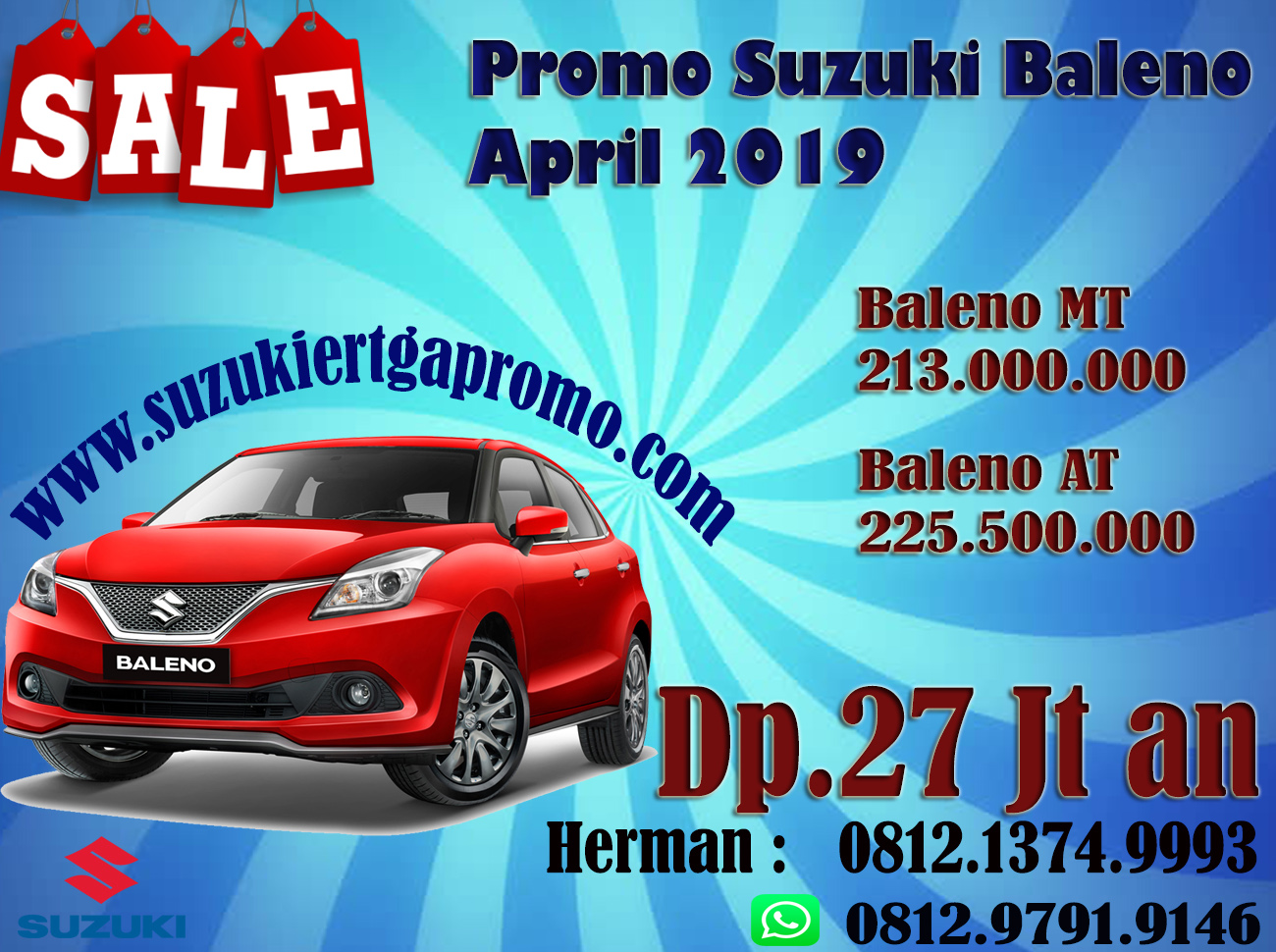 PROMO SUZUKI BALENO APRIL 2019