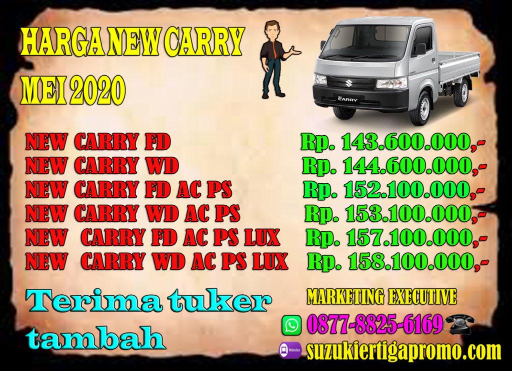 harga otr new carry pick up jabodetabek